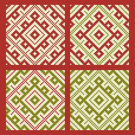 embroider: Ethnic slavic seamless pattern#18