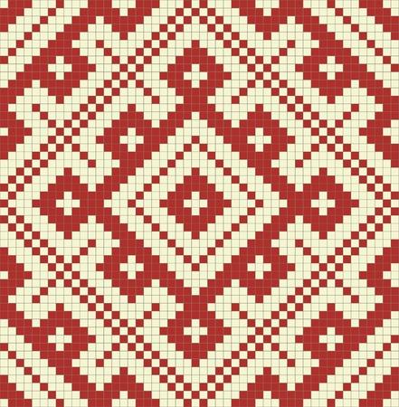 punto cruz: �tnico eslavo patr�n sin fisuras # 14