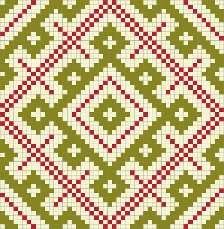 embroidery on fabric: Ethnic slavic seamless pattern#16