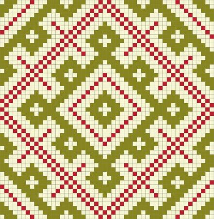 punto cruz: Étnico eslavo patrón sin fisuras # 16