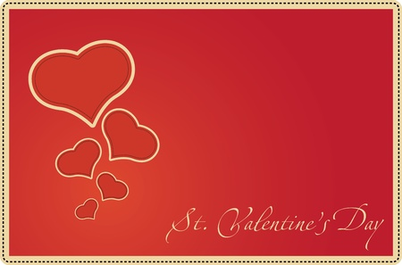 Card for St. Valentines Day, vector illustration Vector
