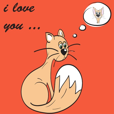 mating: Funny greeting card for Valentines Day