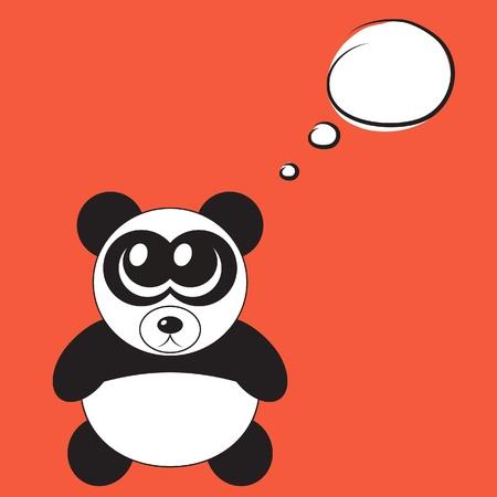Cute cartoon panda with big eyes, vector illustration Stock Vector - 12483035