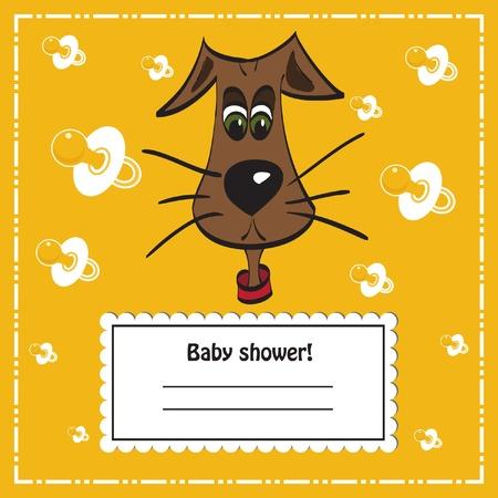 Baby shower invitation card, vector Vector