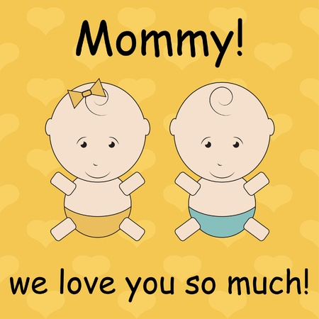 Card to Mother s Day Vector