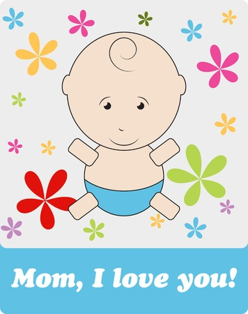 Card to Mother s Day Stock Vector - 13546185