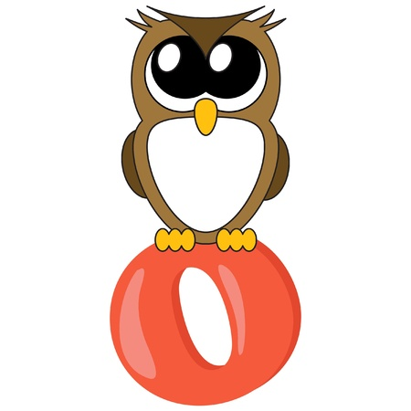 Alphabet for kids, letter O Vector