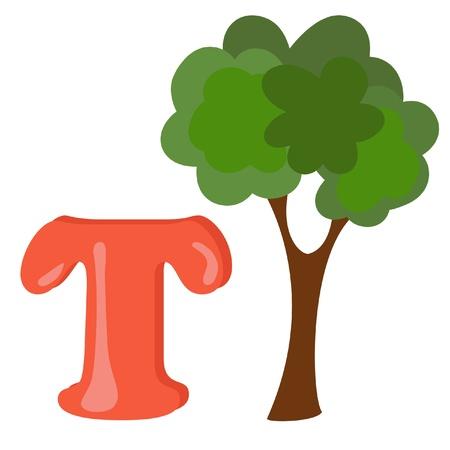 Alphabet for kids, letter T Stock Vector - 13719418