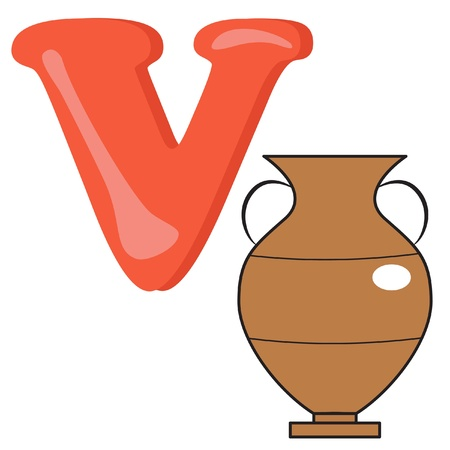 Alphabet for kids, letter V. Stock Vector - 13719389