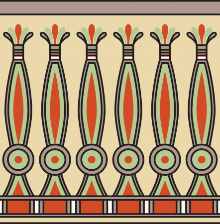papyrus: Colorful ancient egyptian ornament, seamless pattern