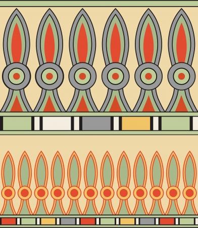 Coloridos adornos del antiguo Egipto Ilustración de vector