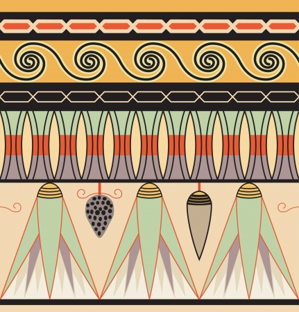 egyptian culture: Colorful ancient egyptian ornament Illustration