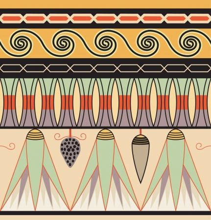 Coloridos adornos del antiguo Egipto