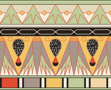 Colorful ancient egyptian ornament, seamless pattern Stock Vector - 13719674