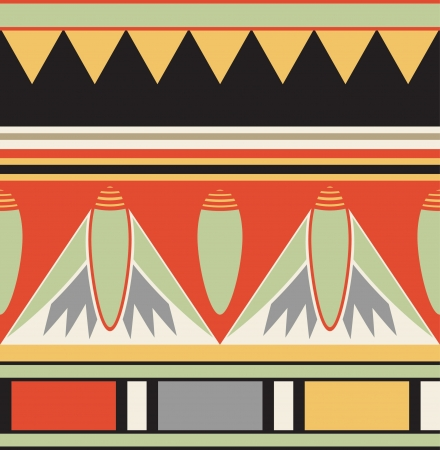 Colorful ancient egyptian ornament Vector