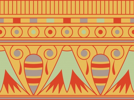 Coloridos adornos Antient egipcio, sin patrón