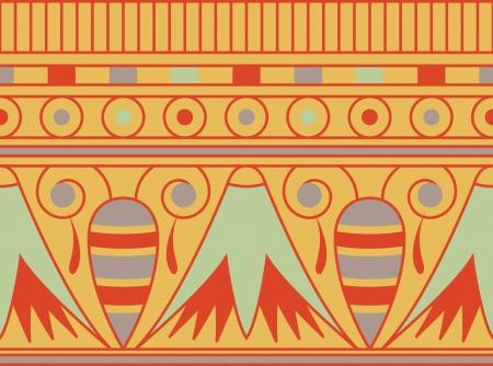 etnia: Coloridos adornos Antient egipcio, sin patrón