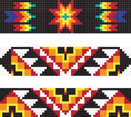 Traditional American Indian pattern, vector illustrations Vettoriali