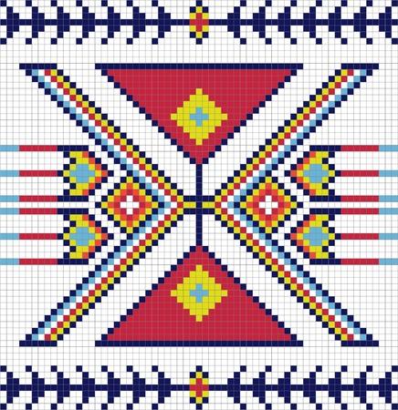 indio americano: Tradicional patr�n de los indios americanos Vectores