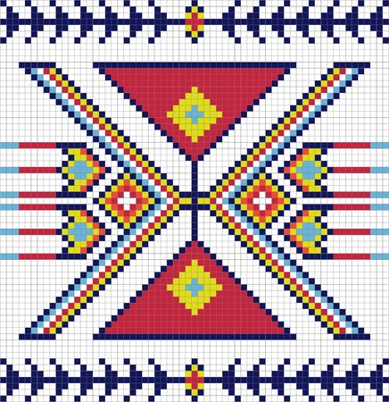 american indian: Traditionnel mod�le Indien de l'Am�rique Illustration