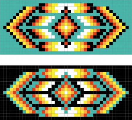 (ネイティブ) アメリカ ・ インディアンの伝統的な模様  イラスト・ベクター素材