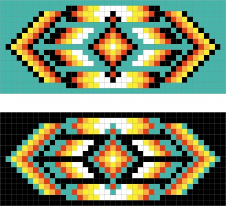native american ethnicity: Traditional (native) American Indian pattern Illustration