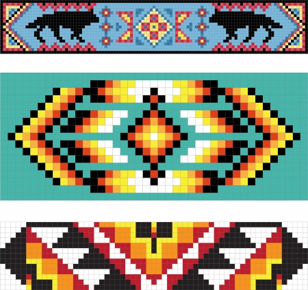 Traditional (native) American Indian pattern  イラスト・ベクター素材
