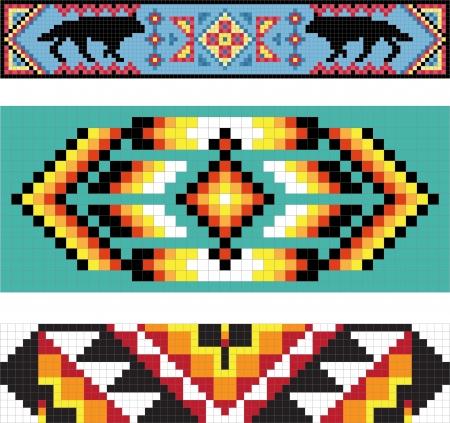 motif indiens: Traditionnel (native) mod�le Indien de l'Am�rique