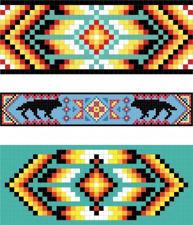 native indian: Tradicional (nativo) patr�n de los indios americanos
