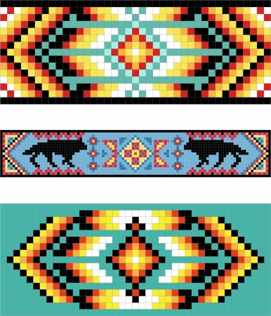 indische muster: Traditionelle (nativ) American Indian Muster Illustration