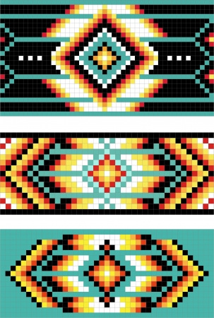 pixel art: Traditional (native) American Indian pattern Illustration
