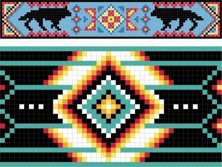 indio americano: Tradicional (nativo) patrón de los indios americanos
