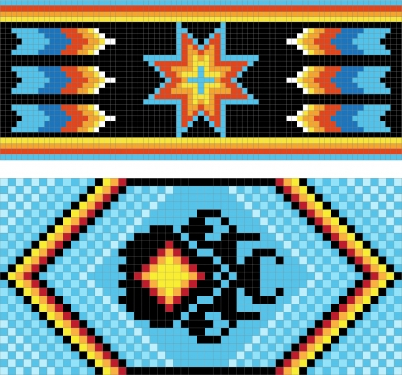 pictorial art: Traditional (native) American Indian pattern Illustration