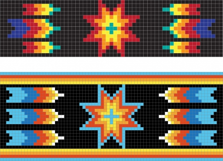 Traditional (native) American Indian pattern 일러스트