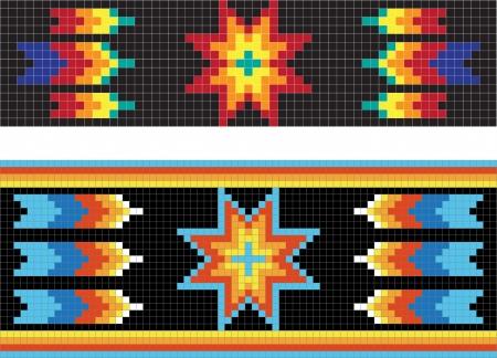 Tradicional (nativo) patrón de los indios americanos Ilustración de vector