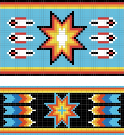 Traditional (native) American Indian pattern, vector Vector