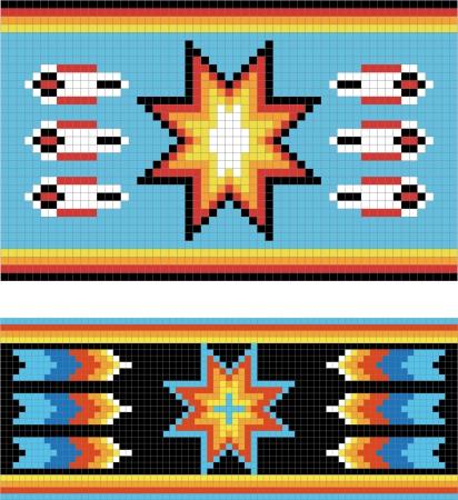 motif indiens: Traditionnel (native) am�ricaine mod�le indien, vecteur