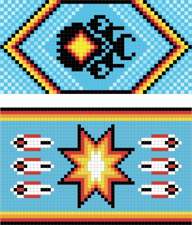 pictorial art: Traditional (native) American Indian pattern, vector