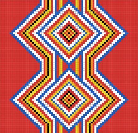 tribu: Tradicional (nativo) patr�n de los indios americanos