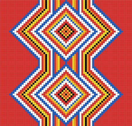 tribe: Traditional (native) American Indian pattern Illustration