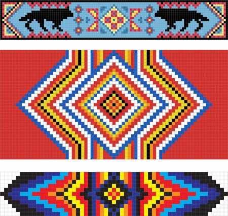 volkstamm: Traditionelle (nativ) American Indian Muster Illustration