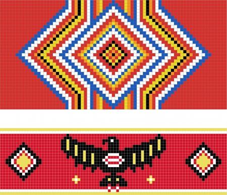 전통 (네이티브) 아메리칸 인디언 패턴 스톡 콘텐츠 - 13719585