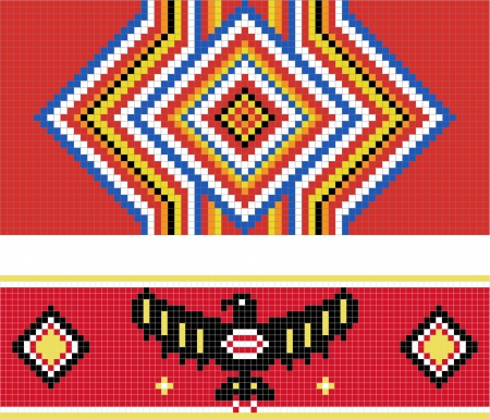 Traditional (native) American Indian pattern Vector