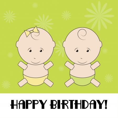 Happy birthday funny greeting card Vector