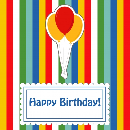 Happy birthday cute greeting card Vector