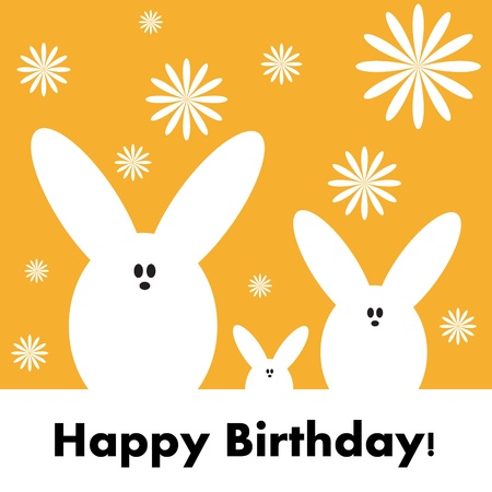Happy birthday funny greeting card. Vector