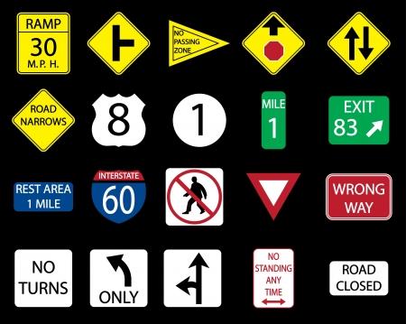 도로 표지판의 아이콘 설정. 스톡 콘텐츠 - 13719689