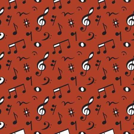 Musical  made of notes  seamless pattern, Vector