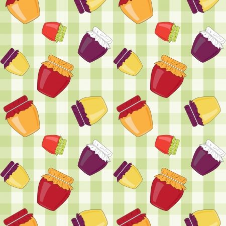 background with  jam, seamless pattern Vector