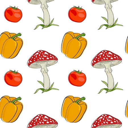 summer background with vegetables, seamless pattern Stock Vector - 13773717